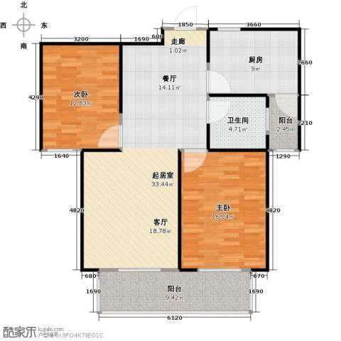 安泰诚品2室0厅1卫1厨94.00㎡户型图