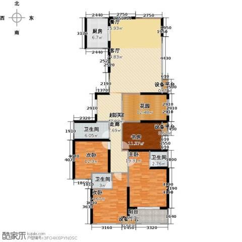 新贵华城三期4室0厅3卫1厨186.00㎡户型图