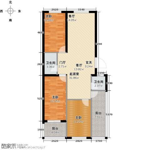 建新御景园3室0厅2卫0厨94.00㎡户型图