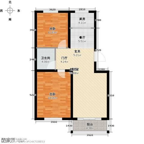 建新御景园2室0厅1卫1厨109.00㎡户型图