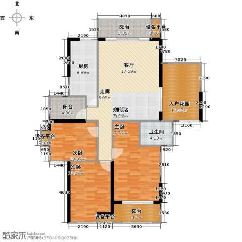 新贵华城三期3室0厅1卫1厨137.00㎡户型图