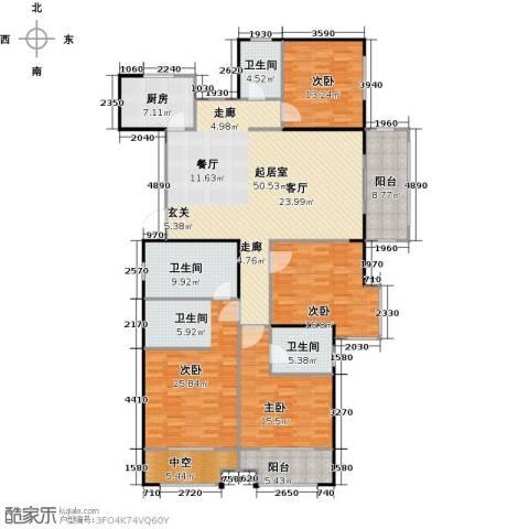 宏江中央广场4室0厅3卫1厨184.00㎡户型图