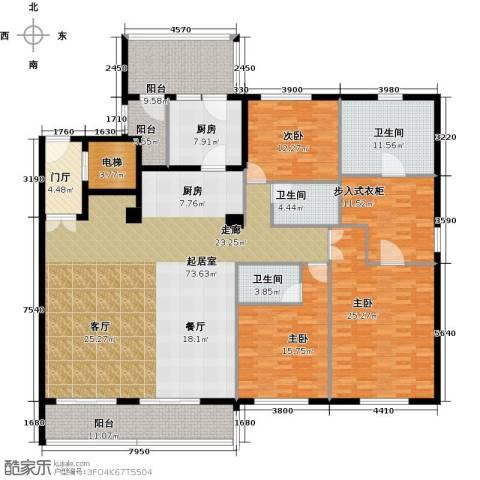 复地御西郊3室0厅3卫1厨220.00㎡户型图