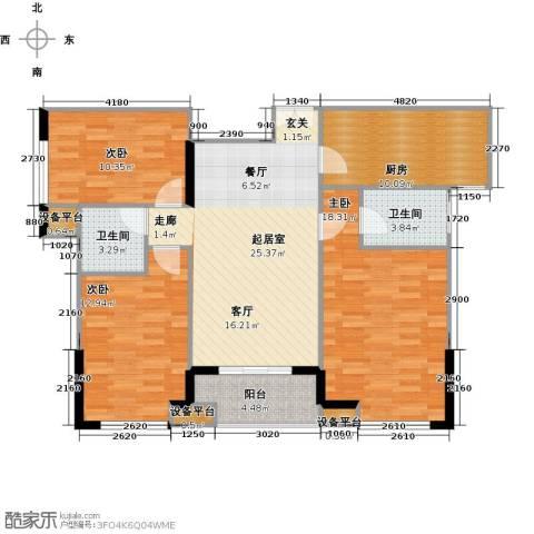 新贵华城三期3室0厅2卫1厨120.00㎡户型图