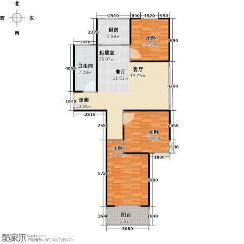 安泰诚品3室0厅1卫1厨104.00㎡户型图