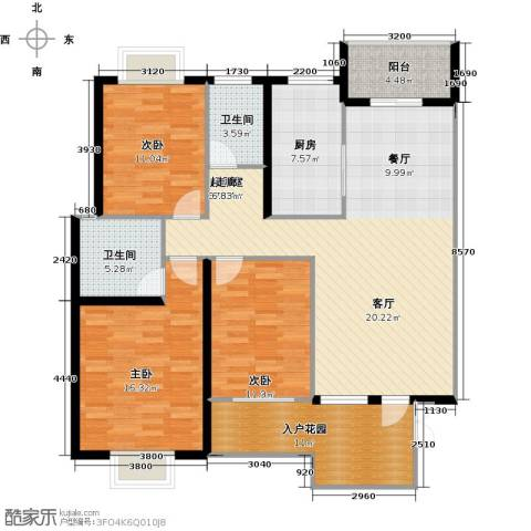 新贵华城三期3室0厅2卫1厨139.00㎡户型图
