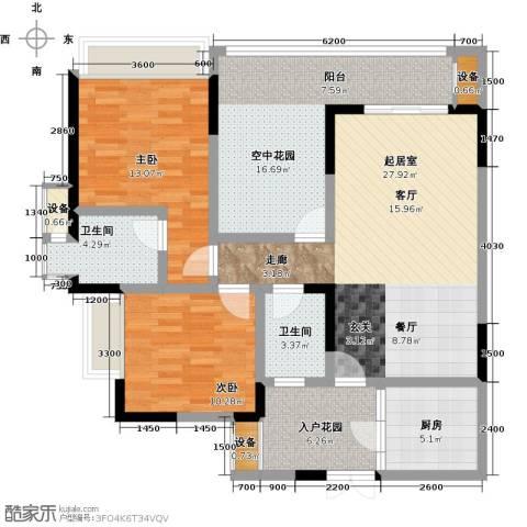 祥和御馨园二期2室0厅2卫1厨130.00㎡户型图