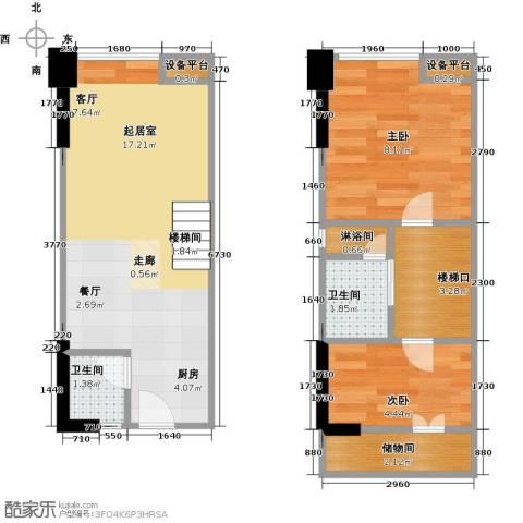 保利新天地2室0厅2卫0厨45.00㎡户型图