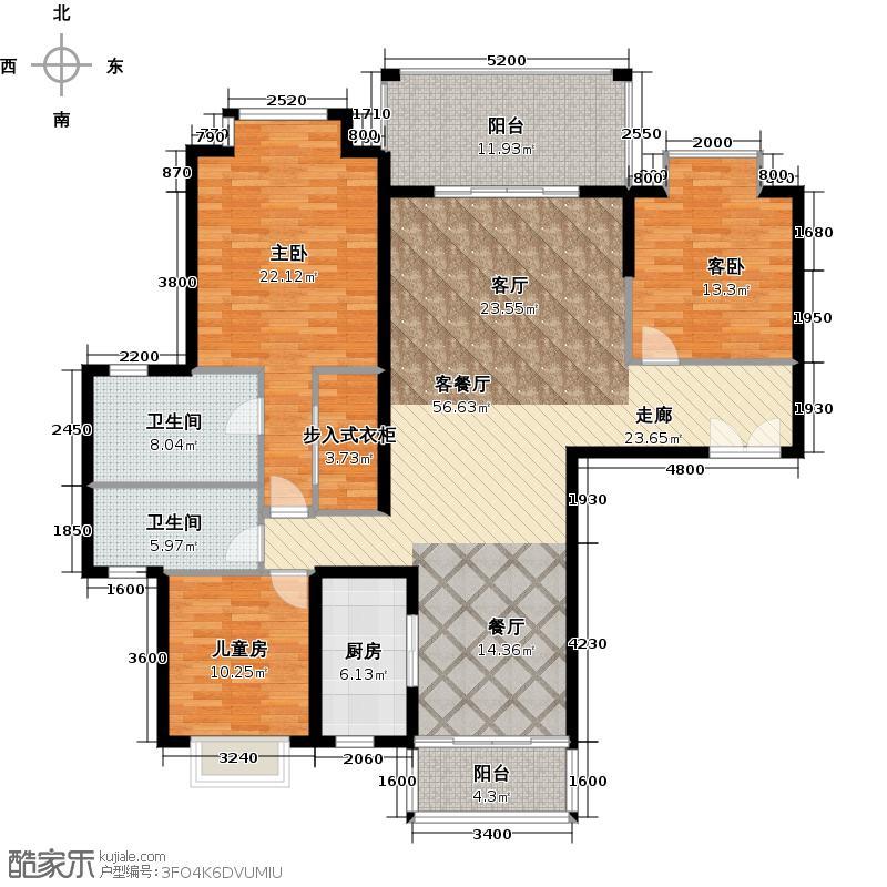 南沙奥园15栋01户型3室1厅2卫1厨