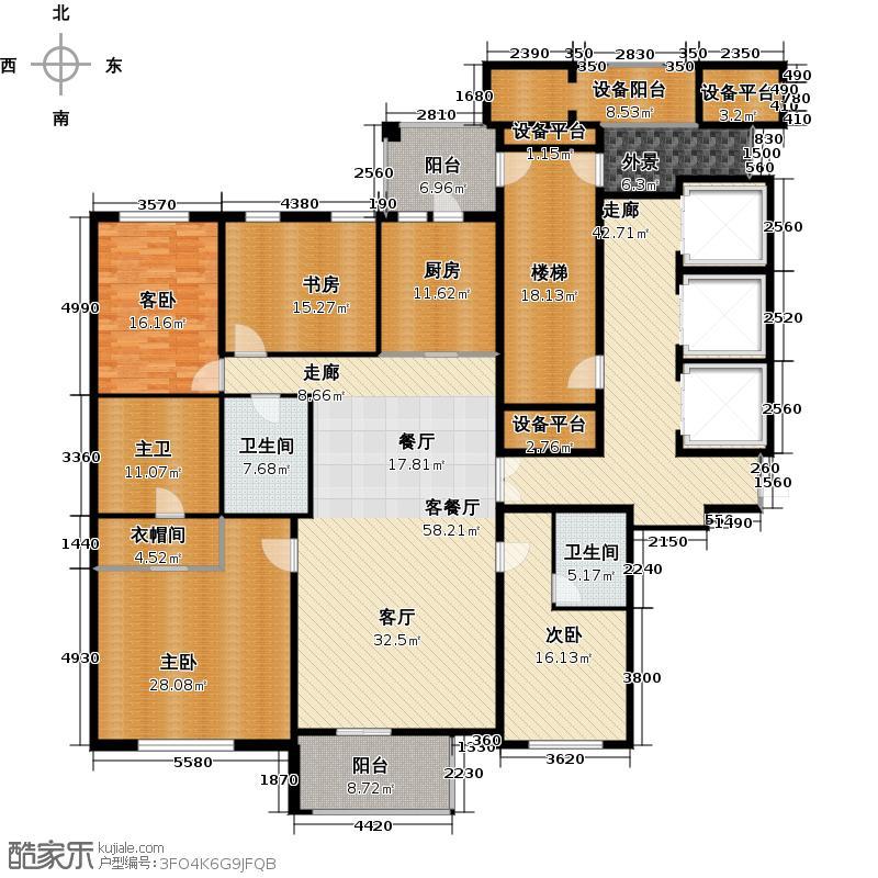 滨江城市之星238.47㎡户型4室1厅2卫1厨