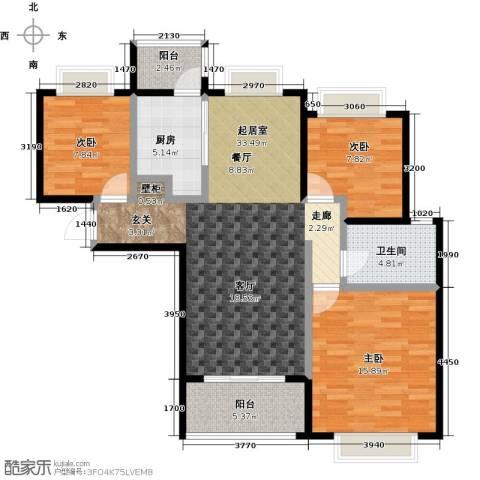 合景・瑜翠园3室0厅1卫1厨98.00㎡户型图