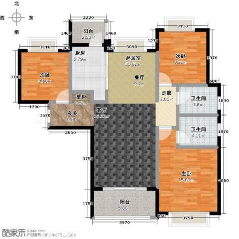 合景・瑜翠园3室0厅2卫1厨108.00㎡户型图