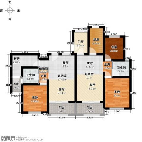 万富汇3室0厅2卫2厨100.00㎡户型图