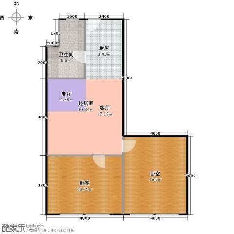 协鑫・鑫尚1卫0厨79.00㎡户型图
