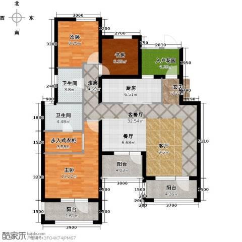 尚湖骏城3室1厅2卫1厨125.00㎡户型图