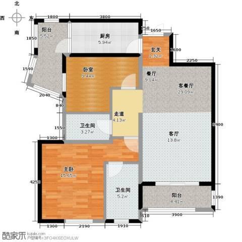 盛世8号1室1厅2卫1厨111.00㎡户型图