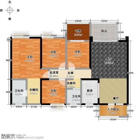 清泉城市广场5室0厅2卫1厨160.00㎡户型图