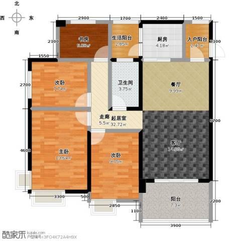 清泉城市广场4室0厅1卫1厨124.00㎡户型图