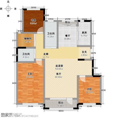 新星宇・之悦3室0厅2卫1厨144.00㎡户型图