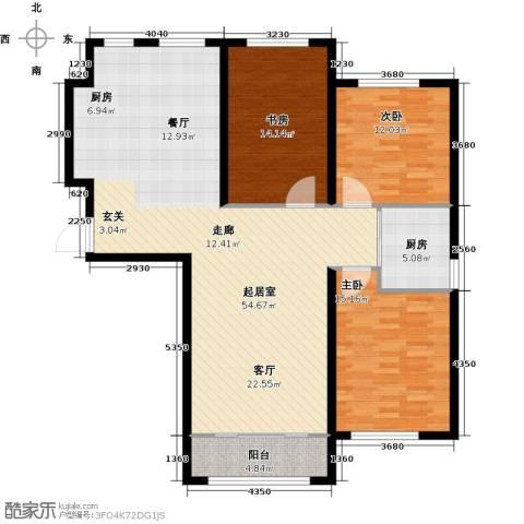 中顺福苑3室0厅0卫1厨117.00㎡户型图
