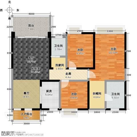 清泉城市广场3室0厅2卫1厨132.00㎡户型图