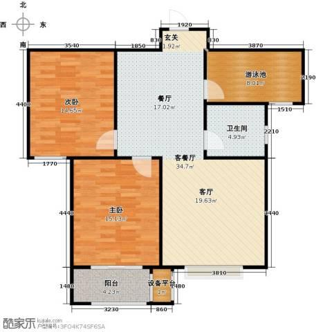 香溪雅地2室1厅1卫0厨89.00㎡户型图