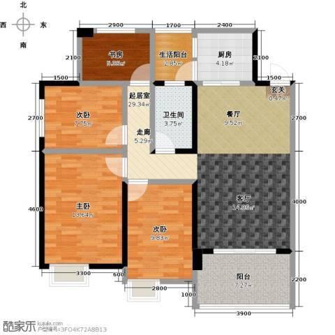 清泉城市广场4室0厅1卫1厨120.00㎡户型图