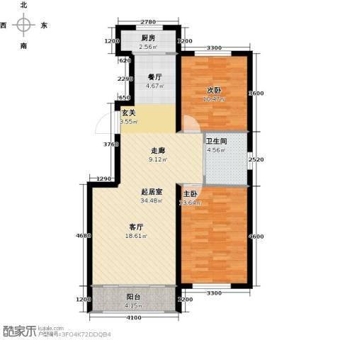 中顺福苑2室0厅1卫1厨94.00㎡户型图