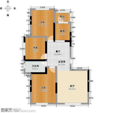 万星幸福城3室0厅1卫1厨113.00㎡户型图