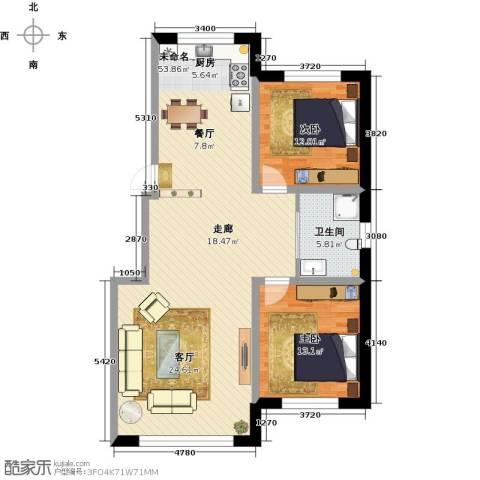 天富东苑2室0厅1卫0厨96.00㎡户型图