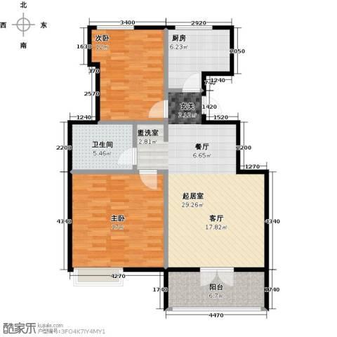 社会山20142室0厅1卫1厨85.00㎡户型图