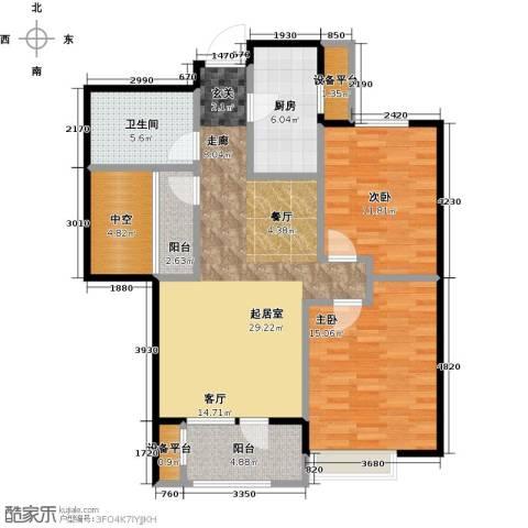 社会山20142室0厅1卫1厨91.00㎡户型图