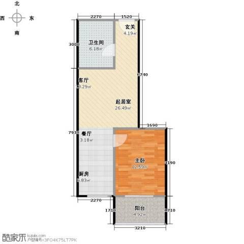 翰林17坊1室0厅1卫0厨68.00㎡户型图