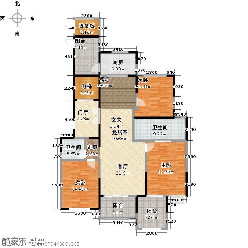 龙湖蔚澜香醍B1户型3室2卫1厨