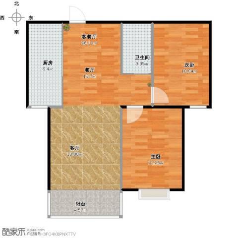 久新悦城2室1厅1卫1厨84.00㎡户型图