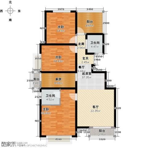 华贸 公园郡3室0厅2卫1厨134.00㎡户型图