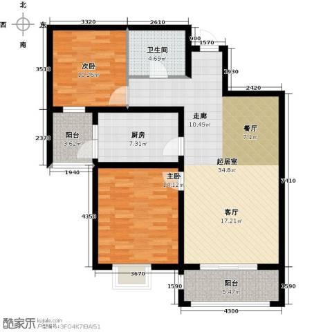 紫境城2室0厅1卫1厨114.00㎡户型图