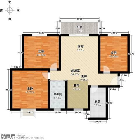 紫境城3室0厅1卫1厨138.00㎡户型图