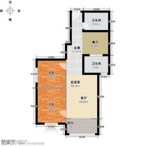 紫境城2室0厅2卫0厨112.00㎡户型图