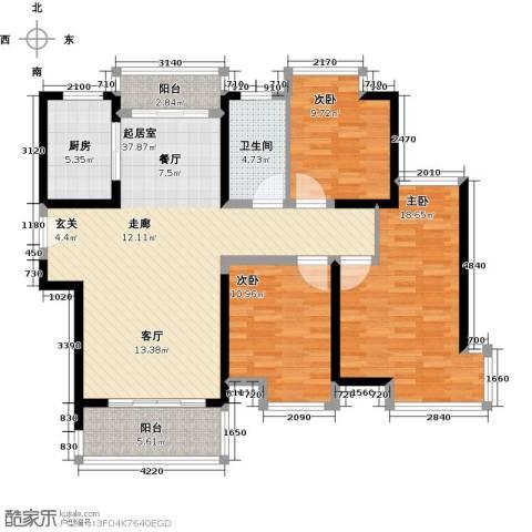 南昌莱蒙都会3室0厅1卫1厨110.00㎡户型图
