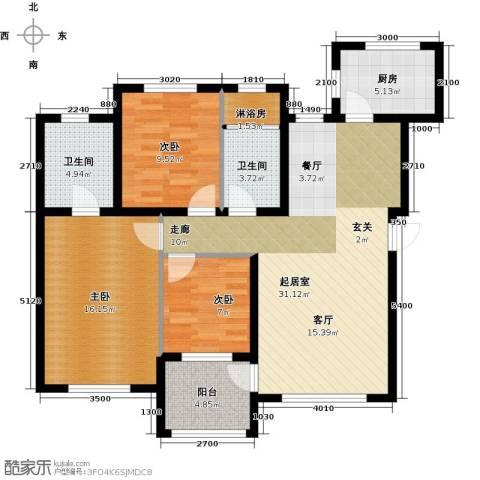 欧尚广场3室0厅2卫1厨113.00㎡户型图
