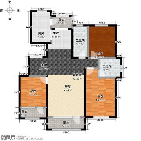 锦园3室0厅2卫1厨153.00㎡户型图