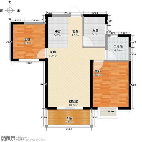 南昌莱蒙都会2室0厅1卫1厨85.00㎡户型图