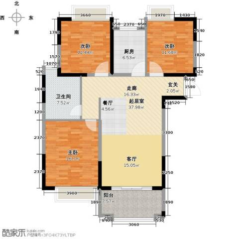 帝奥北城名郡3室0厅1卫1厨112.00㎡户型图