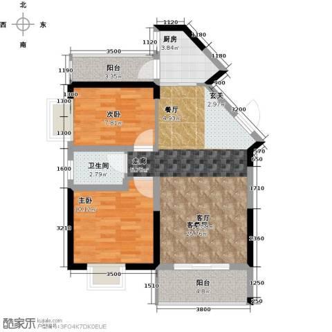 领御玺台2室1厅1卫1厨84.00㎡户型图
