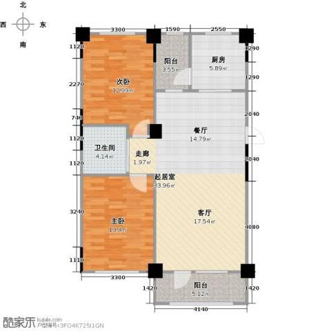 澳海澜郡2室0厅1卫1厨107.00㎡户型图