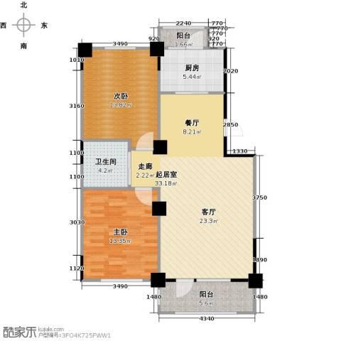 澳海澜郡2室0厅1卫1厨105.00㎡户型图