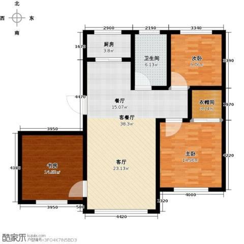 金鼎凤凰城3室1厅1卫1厨103.00㎡户型图