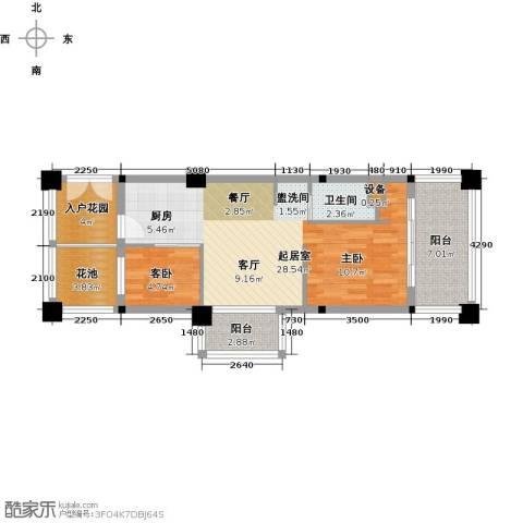 美亚之心1室0厅1卫0厨63.00㎡户型图
