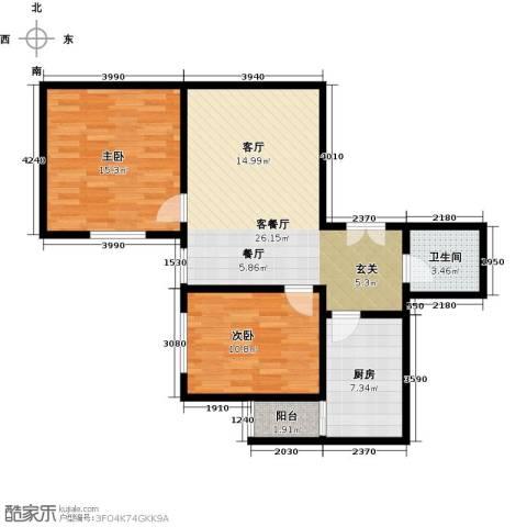 阳光北郡2室1厅1卫1厨73.00㎡户型图